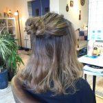 【ショートヘア~ロングどの長さでも可愛い◎】プチお団子ハーフアップのヘアアレンジ